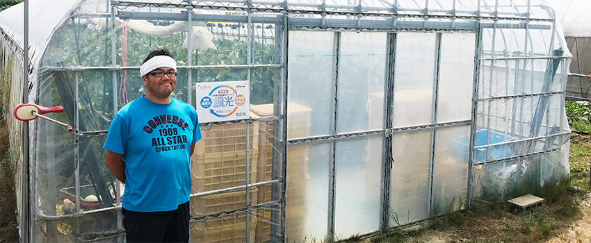 遮光ネットなしでトマト栽培に取り組んでいます。石川県能美郡川北町 北本様